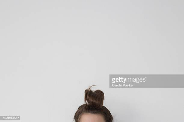 Bun with brown hair