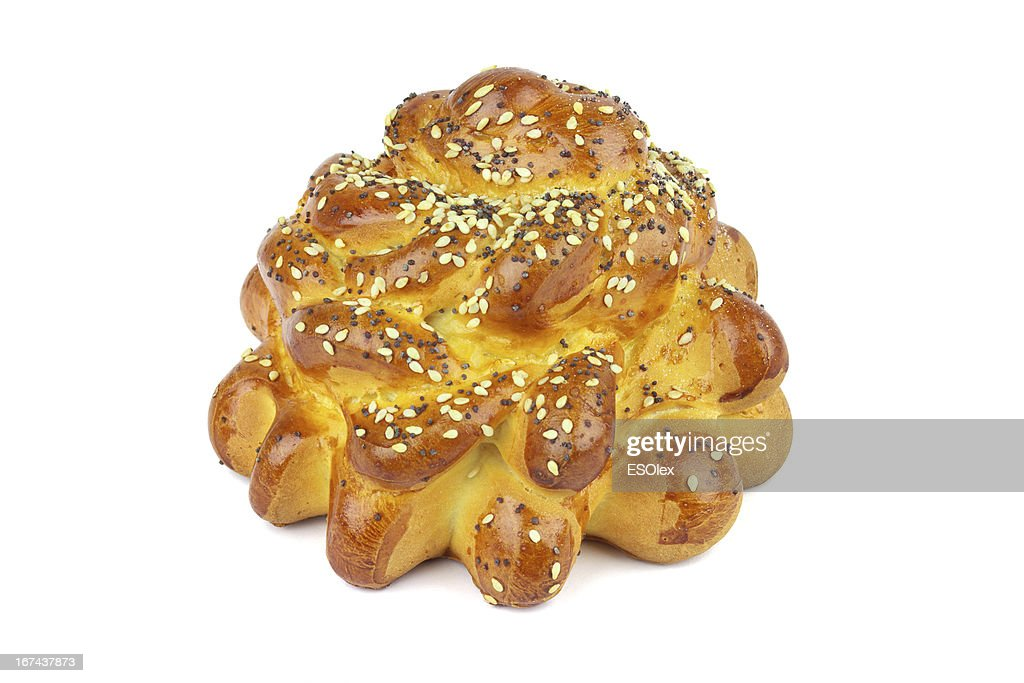 Bun with sesame seeds and poppy : Stock Photo