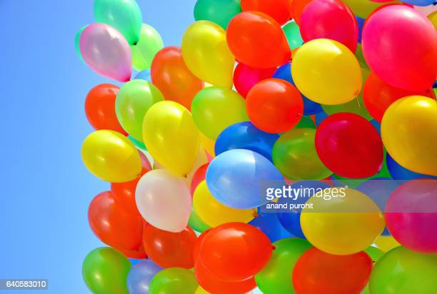 Bunch of Balloons flying