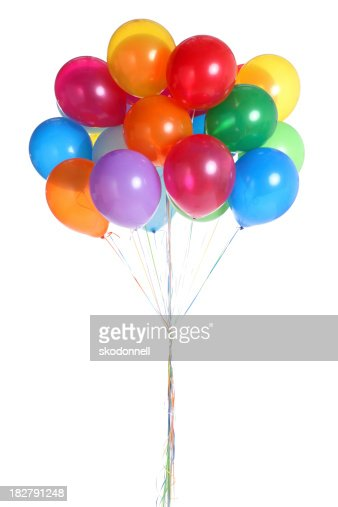 Bunch of Balloons Isolated on White
