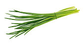 isolated chives on white background