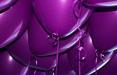 A Bunch of Colorful Purple Party Balloons