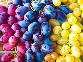Bunch of different types of fresh grapes