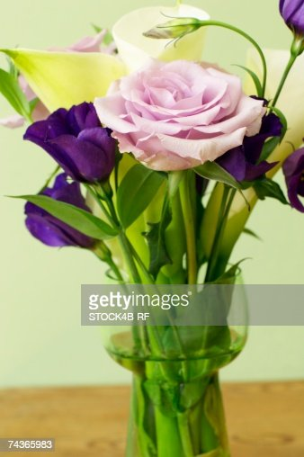 Bunch of flowers with roses