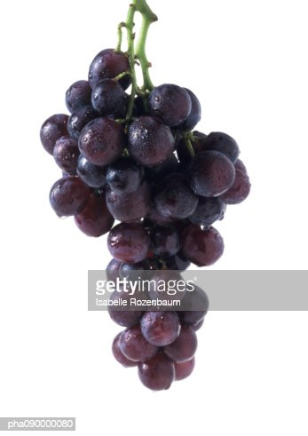 Bunch of grapes, white background