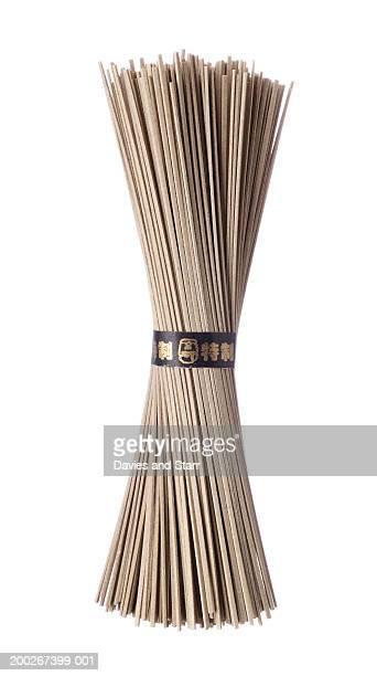 Bunch of soba (buckwheat) noodles
