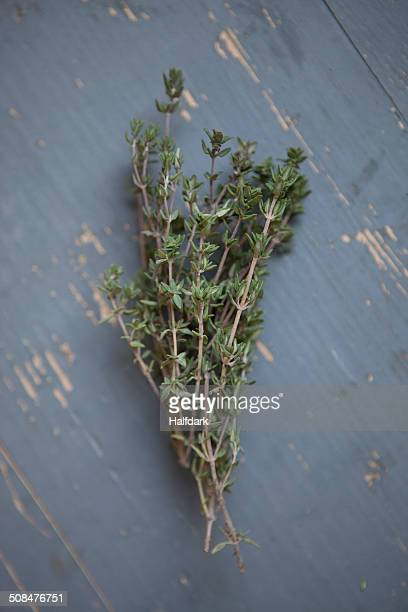 Bunch of thyme on table