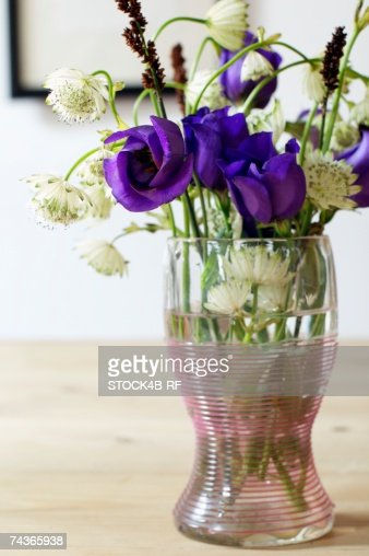 Bunch of wild flowers in a vase