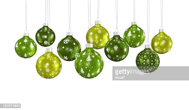 bunch of xmas ornaments hanging on a chain