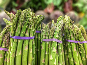 Asparagus for sale at a retail market.