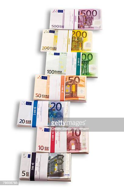 Bunches of Euro notes