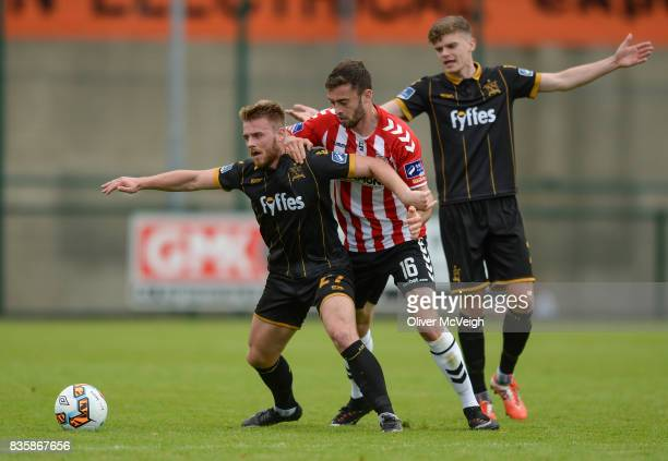 Buncrana Ireland 20 August 2017 Conor Clifford of Dundalk in action against Josef Dolny of Derry City during the SSE Airtricity League Premier...