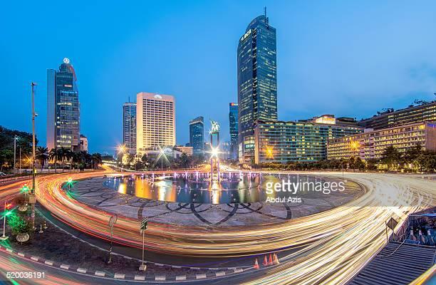 Bundaran Hotel Indonesia Blue Hour (from bridge)