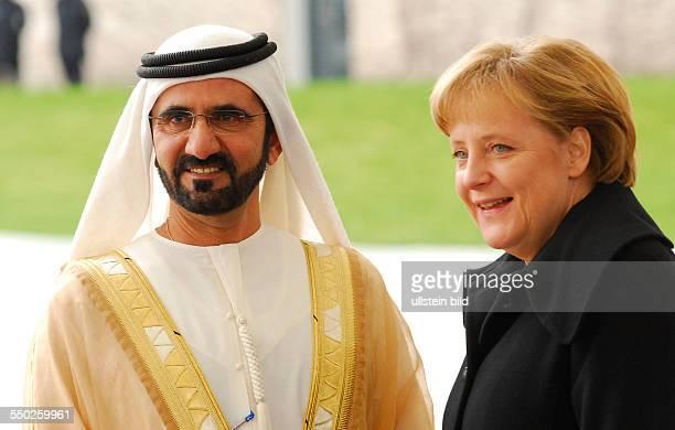 Bundeskanzlerin Angela Merkel empfängt Scheich Mohammed bin Rashid al Maktoum mit militärischen Ehren in Berlin