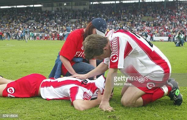 2 Bundesliga 02/03 Braunschweig Eintracht Braunschweig FSV Mainz 05 Sandro SCHWARZ und Andrej VORONIN/mainz enttaeuscht