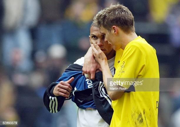 1 Bundesliga 02/03 Dortmund Borussia Dortmund FC Bayern Muenchen 10 Torschuetze Marcio AMOROSO und Sebastian KEHL/Dortmund