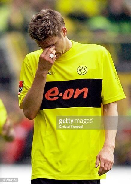 1 Bundesliga 02/03 Dortmund Borussia Dortmund VfL Wolfsburg 22 Enttaeuschung Sebastian KEHL/Dortmund