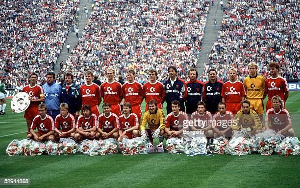 1 Bundesliga 89/90 Muenchen Team FC Bayern Muenchen Deutscher Meister