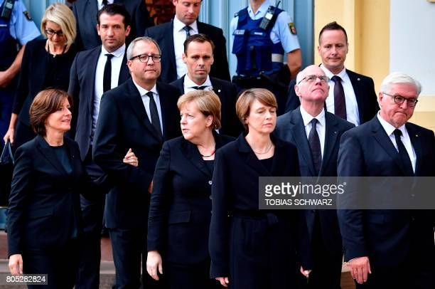 Bundesrat President Malu Dreyer the President of Germany's Constitutional Court Andreas Vosskuhle German Chancellor Angela Merkel the wife of German...