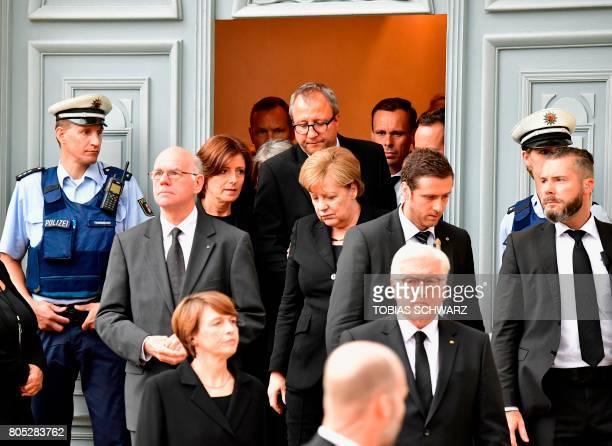 Bundesrat President Malu Dreyer the President of Germany's Constitutional Court Andreas Volksschule German Chancellor Angela Merkel the wife of...