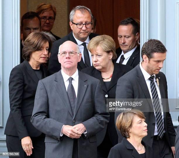 Bundesrat President Malu Dreyer the President of Germany's Constitutional Court Andreas Volksschule the Bundestag President Norbert Lammert German...