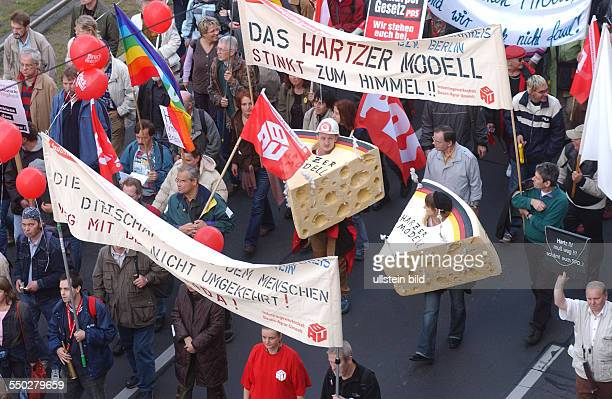 Bundesweite Großdemonstration gegen HARTZ IV in Berlin