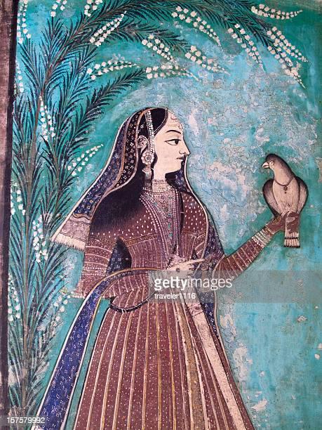 Palais Bundi de travaux de peinture du Rajasthan, Inde