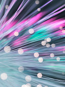 Bundle of fibre optics used to send data