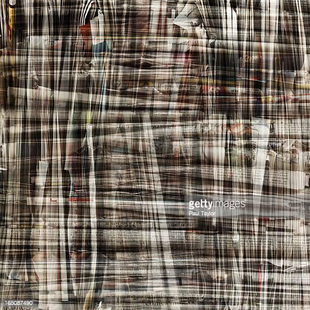 Bundle of Newspapers Layered