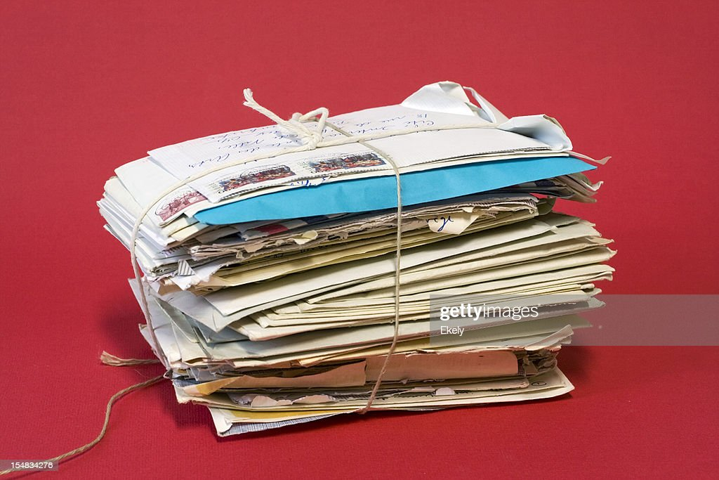 Bundle of old letters. : Stock Photo