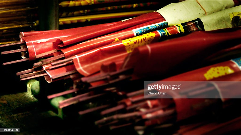 Bundles of joss sticks : Stock Photo
