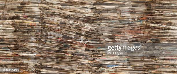 Bundles of Newspapers Collaged