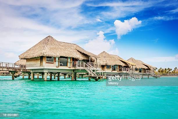 Bungalow sur l'eau du complexe de Bora Bora, Polynésie française