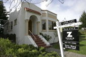 A bungalow style home is seen for sale January 25 2006 in San Francisco An estimated one in eight homes sold for over one million dollars or more in...