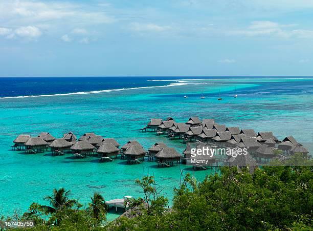 Bungalows na Polinésia Francesa