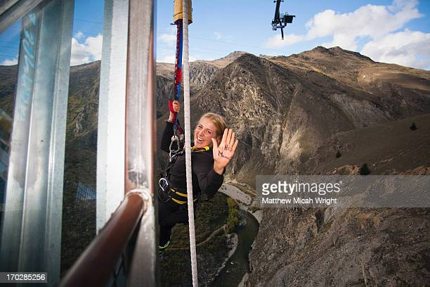 A bungee jumper in Queenstown