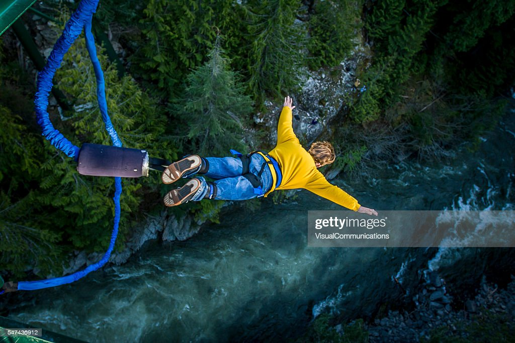 Bungee-jumping. : Stock-Foto
