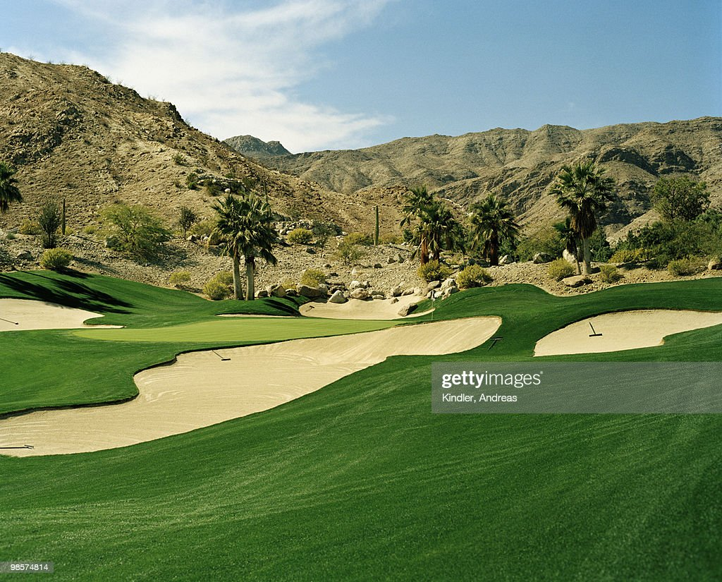 Bunkers on a golf course, USA.