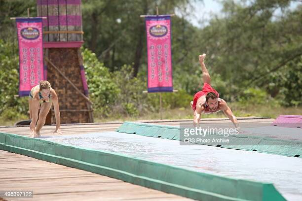 'Bunking With The Devil' Kass McQuillen and Stephen Fishbach during the sixth episode of SURVIVOR Wednesday Oct 28 The new season in Cambodia themed...