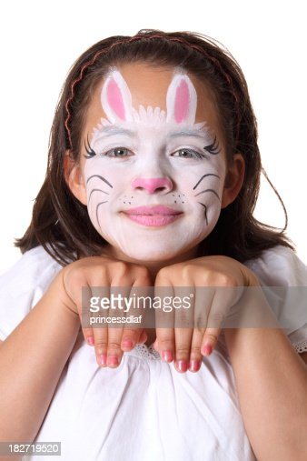 Bunny Face Paint Stock Photo Getty Images