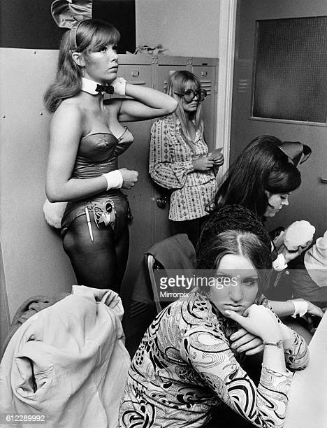 Bunny girl at the Playboy Club in London September 1969 P018498