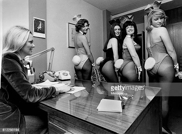 Bunny Girls in the office having their tails looked at August 1974 P018497