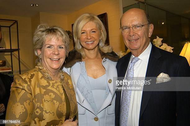 Bunny Williams Hillary Ross and Wilbur Ross attend Oscar Annette de la Renta John Rosselli and Betsy Smith Host the Launch of Bunny Williams' New...