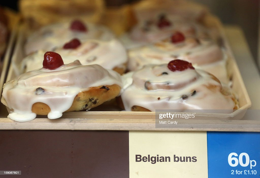 Buns are displayed for sale in a takeaway bakery shop on January 7, 2013 in Bristol, England. A government-backed TV advert - made by Aardman, the creators of Wallace and Gromit - to promote healthy eating in England, is to be shown for the first time later today. England has one of the highest rates of obesity in Europe - costing the NHS 5 billion GDP each year - with currently over 60 percent of adults and a third of 10 and 11 year olds thought to be overweight or obese.