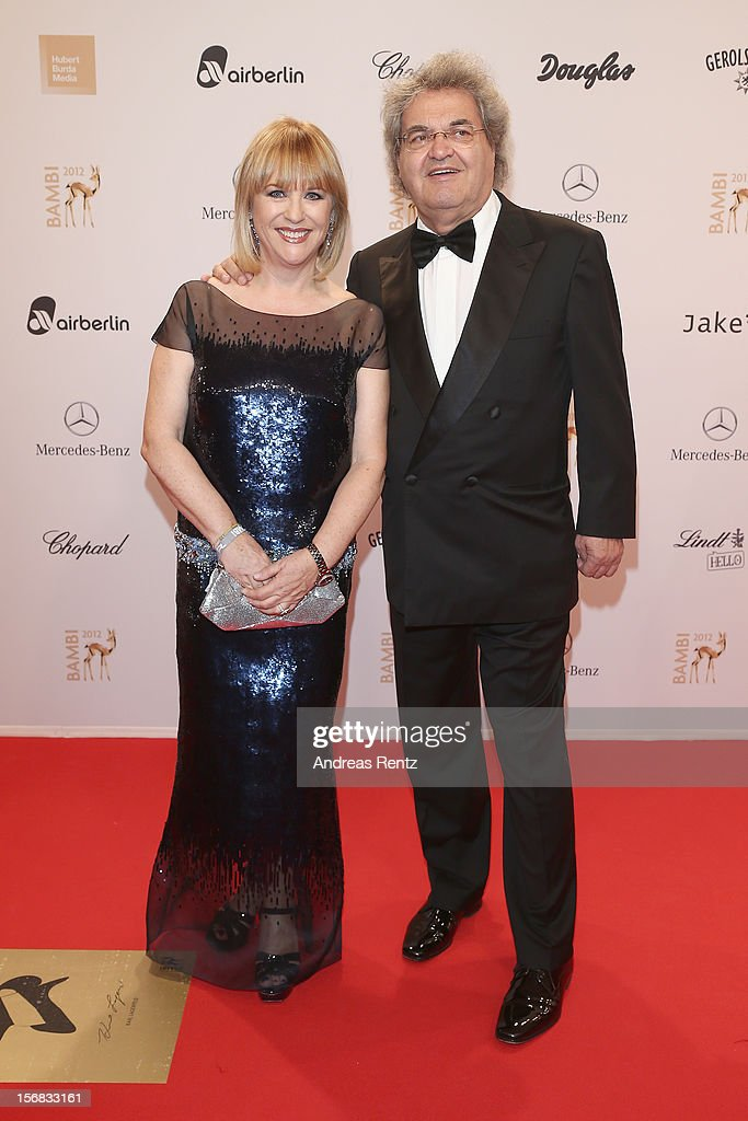 Bunte editor in chief Patricia Riekel and partner Helmut Markwort attends 'BAMBI Awards 2012' at the Stadthalle Duesseldorf on November 22, 2012 in Duesseldorf, Germany.