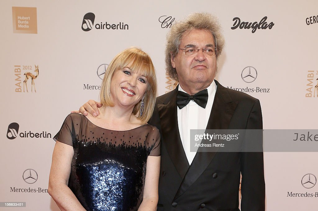 Bunte Editor in Chief Patrizia Riekel and partner Helmut Markwort attend 'BAMBI Awards 2012' at the Stadthalle Duesseldorf on November 22, 2012 in Duesseldorf, Germany.