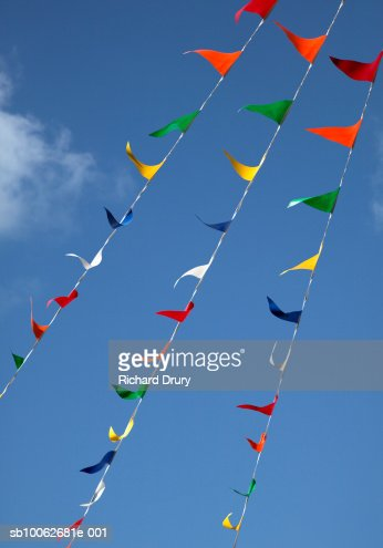 Bunting against blue sky : Stock Photo