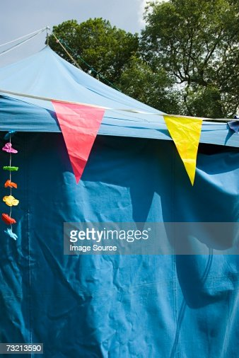 Bunting on a marquee : ストックフォト