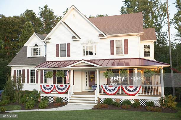Bunting on Traditional Style Home