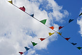 Bunting with Blue Sky